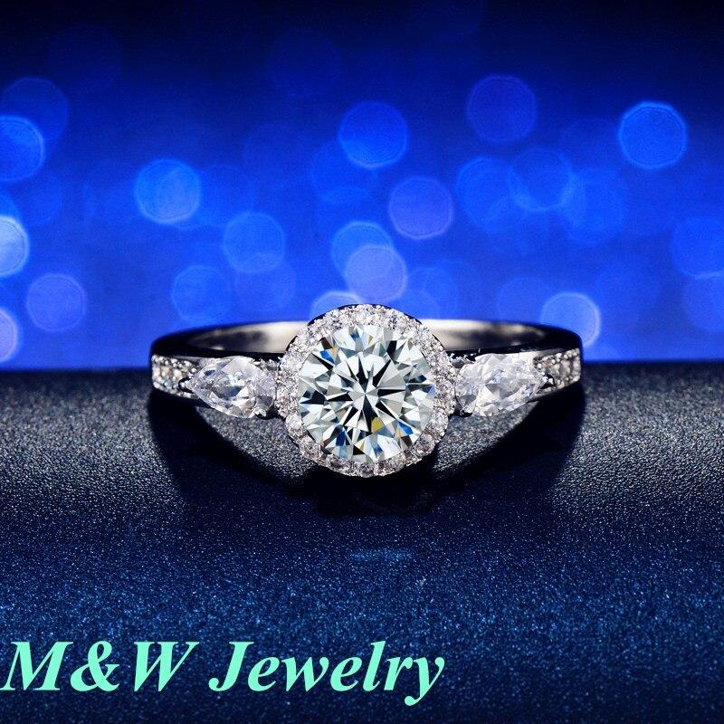 Hot sale Fashion Luxury Women Engagement Jewelry 5A ZC Crystal Zircon Female Wedding Finger Flower Rings M&WL930