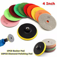 11 X 4 Diamond Polishing Pads Grinding Disc For Granite Marble Concrete Stone 2018 New Arrival
