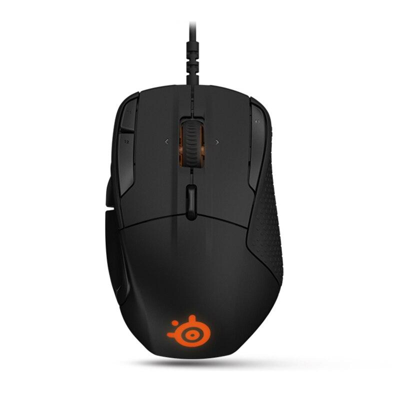 Utilizzato, SteelSeries Rival 500 FPS RTS MMO LOL WOW Giocatore di Gioco Del Mouse Mouse USB Wired 6500 dpi Mouse Ottico