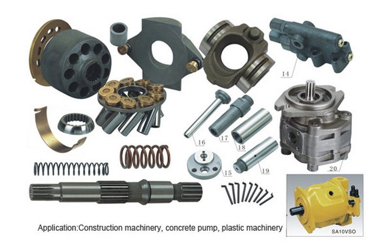 Hydraulic Motor Repair Parts : Rexroth series replacement hydraulic piston pump a vso