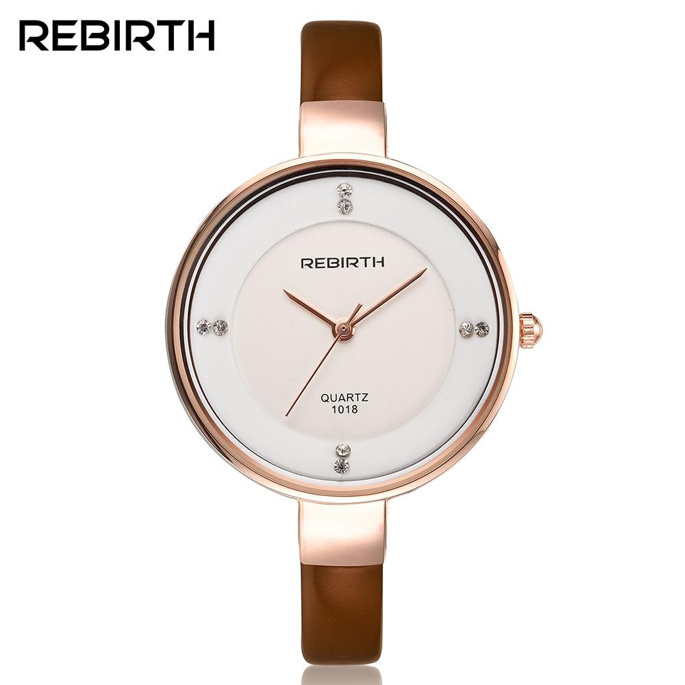 REBIRTH Fashion Women s Quartz Watch Women Lady Luxury Dress clock Elegant Bracelet Wristwatch Gift relogio