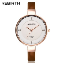 REBIRTH Fashion Women's Quartz Watch Women Lady Luxury Dress clock Elegant Bracelet Wristwatch Gift relogio feminin 001