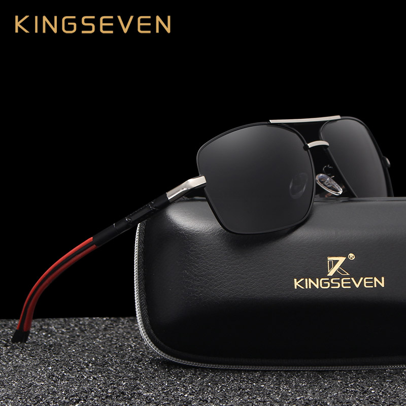 70ebb0b49c KINGSEVEN 2018 Brand Men Aluminum Sunglasses HD Polarized UV400 Mirror Male  Sun Glasses Women For Men Oculos de sol N724-in Sunglasses from Apparel ...