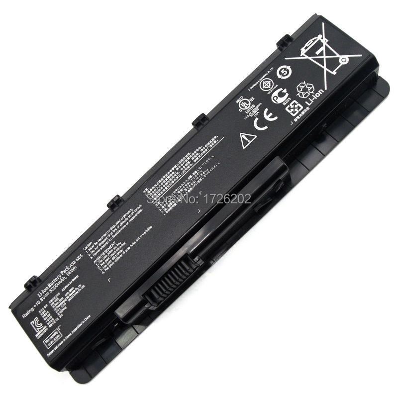 5200mAh LAPTOP NEW Battery A32-N55 07G016 HY1875 for ASUS N45 N45E N45S N45F N55 N55E N55S N55SF N75 N75E N75S N75SF