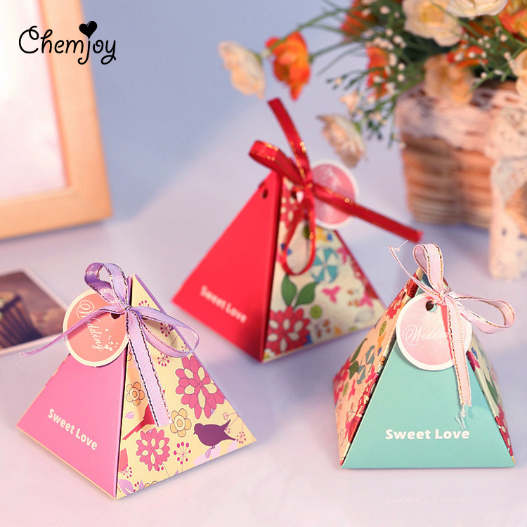 Bird Flower Wedding Favor Boxes Candy Box Wedding Gift for Guests ...