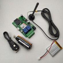 Плата управления RTU5015Plus GSM для открывания ворот с пультом управления SMS, дополнительная перезаряжаемая батарея для сигнализации сбоя питания