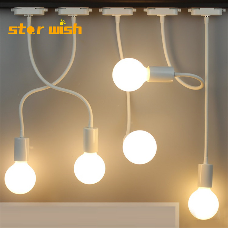 Star Wish LED Hose Track Spotlight Long Pole Curved Rail Light Clothing Store Photo Lamp Wall Wall Mounted Ceiling Lamp