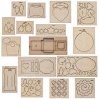 Chzimade 16 Styles Metal Diy Leather Mold Cutting Dies Steel Punch Cut Mold Wooden Die For Leather Crafts Making