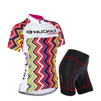 Ciclismo set mulheres Verão 2019 roupas bicicleta de estrada desgaste Senhoras roupas pro bicicleta bib manga Curta terno ostentando calças jérsei kit