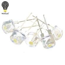WAVGAT sombrero de paja LED blanco superbrillante, lámpara LED de 8mm, 1000 W, 0,5 3,0 V, 3,2 Uds.