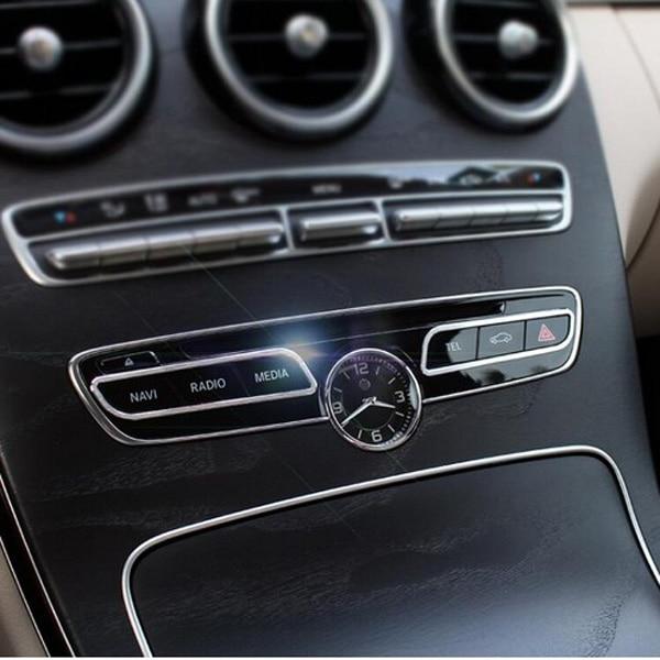 Chrome Car Console Panel Cover Trim For Mercedes Benz C Class W205 ...