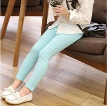 Spring Summer Girl Pants Candy Color Cotton Girl Leggings Children Kids Pants Slim Pencil Pants For Girl Age 3-9T