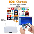 Android Smart Tv Set Top Box RK3128 Android IPTV Caja con QHDTV Cuenta IPTV Árabe Árabe Francés Completo Europa 1000 canales