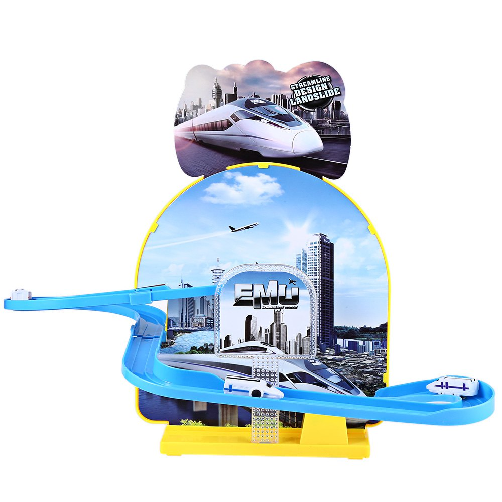 hot kids electric rail car race set train track assemble fancy toy with light funny musicial