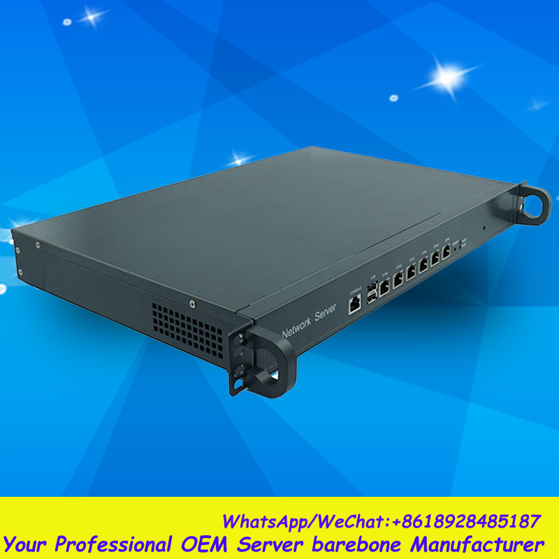 2GB Rack 1U 6LAN Network Security/Router Barebone