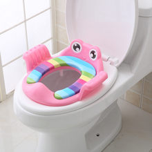 Baby Child Potty Toilet Trainer Seat Step Stool Ladder Adjustable Training Chair comfortable cartoon cute toilet seat children(China)
