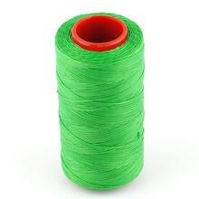 Зеленый 250 м 1 мм плоский вощеный воск нить шнур шитье ремесло