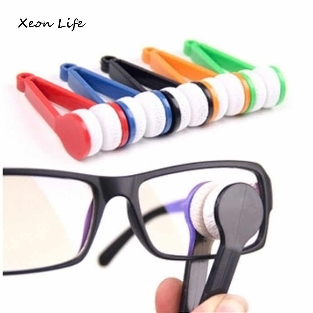 ISHOWTIENDA New 1pc 7*2*2cm Sun Glasses Eyeglass Microfiber Spectacles Cleaner Brush Cleaning Tool LW Glasses Rub Glasses Brush