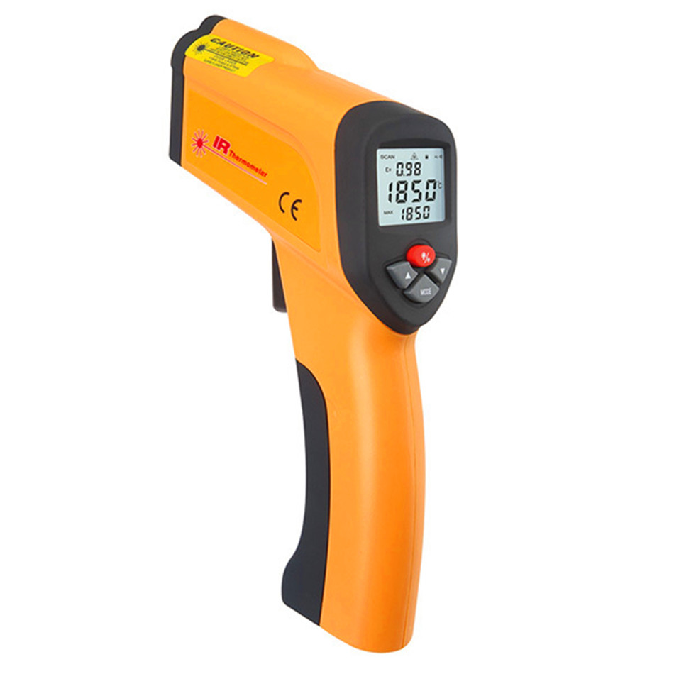 HT-6897 Non-contact High Temperature Infrared Thermometer With Type K Input