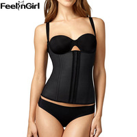 FeelinGirl Workout Waist Cincher Vest Strap Latex Waist Trainer Corset Women Hot Shapers Latex Fajas Reductoras