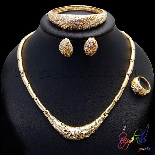 Fashion dubai gold jewelry set 22k gold jewellery dubai wholesale