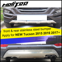 for Hyundai new Tucson 2015 2016 2017 2018 stainless steel skid plate,bumper protector,bull bar,1 or 2pcs/set,quality supplier