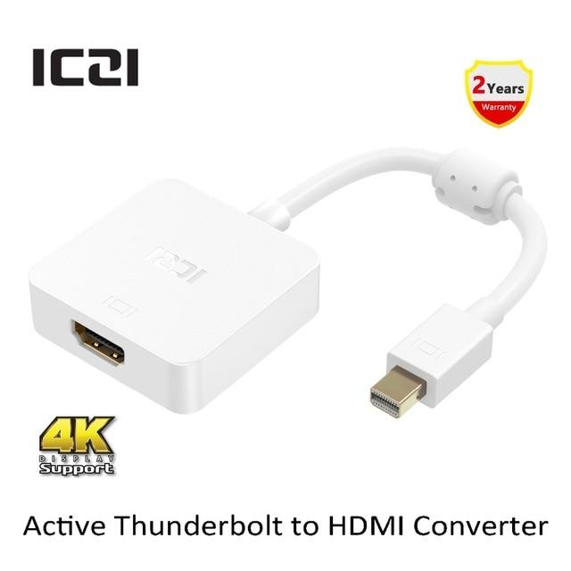 ICZI Thunderbolt к HDMI 4 К @ 30 Гц Активный или Пассивный Адаптер Converter Мини DP к HDMI Адаптер для UltraHD Дисплей/Монитор и т. д.
