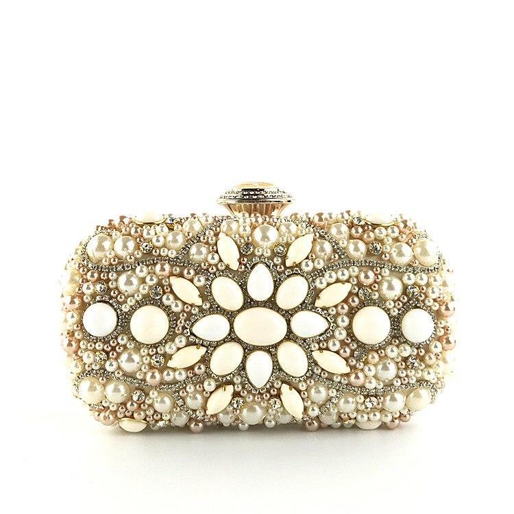 Nouvelle mode strass perles Chic dames embrayage perlé bandoulière chaîne sac à la mode dame luxe sac de soirée