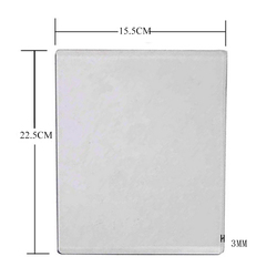 225*155 MM Scrapbooking Die-Cut Machine Plate 3MM Die Cutting Embossing Machine Plate Replacement Pad 22.5x15.5CM NEW Arrivage