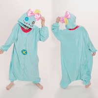 2016 NEU! erwachsene frauen männer lilo & stitch cosplay kostüme scrump onesies pyjamas pyjamas jumpsuit halloween party dress