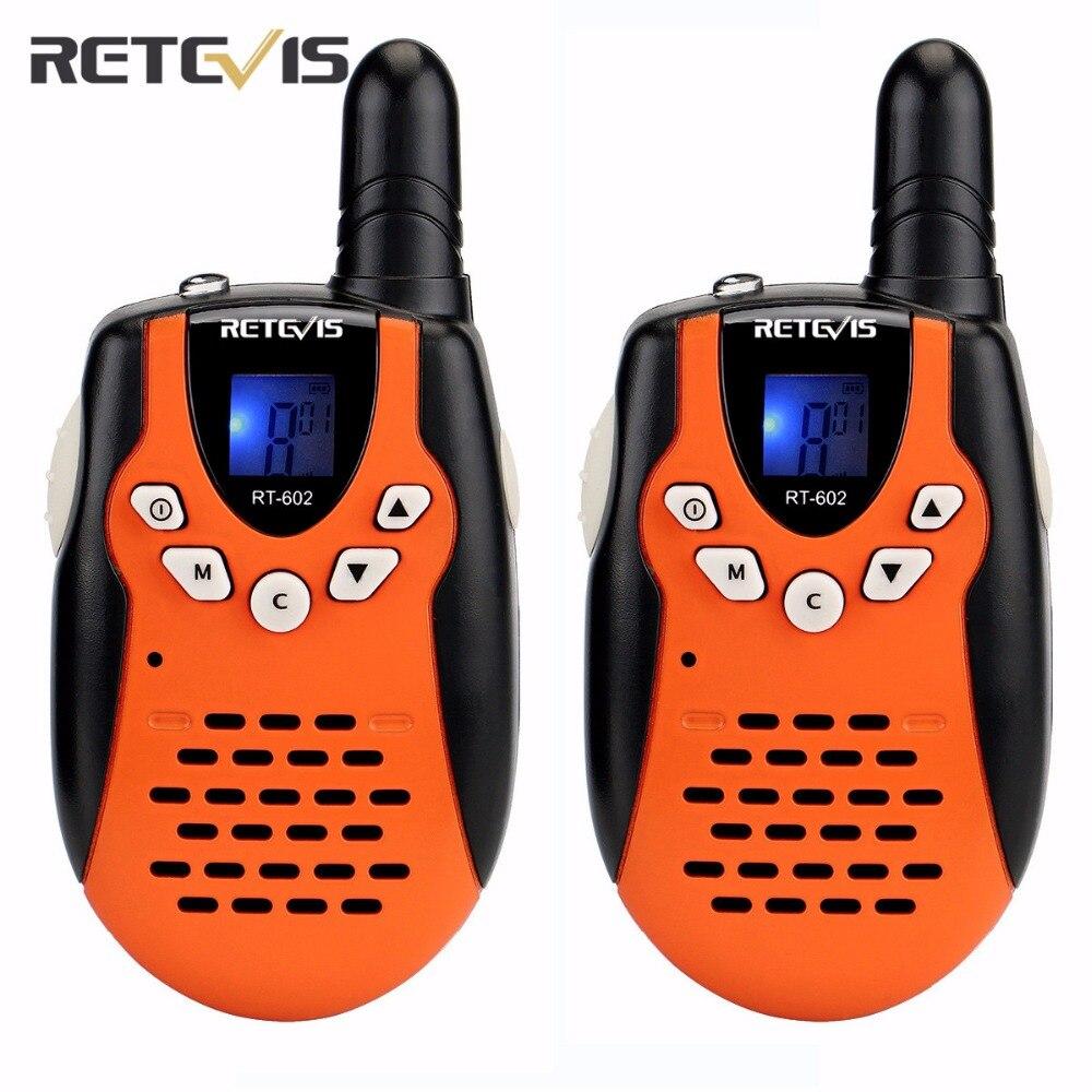 bilder für 2 stücke Mini Walkie Talkie Retevis RT-602 UHF 446 MHz 0,5 Watt für Kind Kinder LCD Display Taschenlampe VOX Mit Ladegerät Batterie A7120