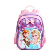 New Anna Elsa Children School Bags Girls Cartoon Snow Queen