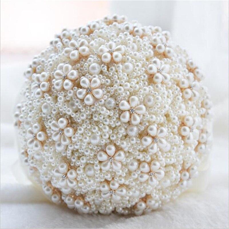 H S BRIDAL Wedding Decoration Luxurious Bridal Bouquet Pearls Artificial Wedding Bouquet Sparkle bouquet de mariage