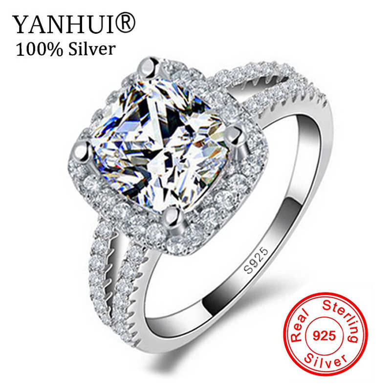 Big Promotion!!! Fine Jewelry 100% Real 925 Sterling Silver Ring 3 Carat CZ Diamant Engagement Wedding Rings For Women JZR066