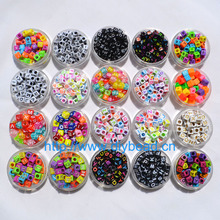 DIY Fashion Jewelry Accessory,Bracelet Department,Acrylic Sugar Beads,6MM Square Shape,Fluorescent Color Letter Beads