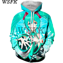 WSFK cute pop anime hoodie 3D printing men and women street casual sweatshirt