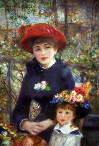Ritratto di arte due Sorelle (sulla Terrazza) da Pierre Auguste ...