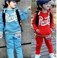2015 new suit  edition of the wholesale and retail children's wear the latest spring boys girls who dress suit hooded suit big P
