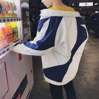 2017 אביב סתיו חדש מקורי יפני סגנון טלאים שרוול ארוך מעיל גברים רופפים מעיל קאובוי צווארון תורו למטה לבן