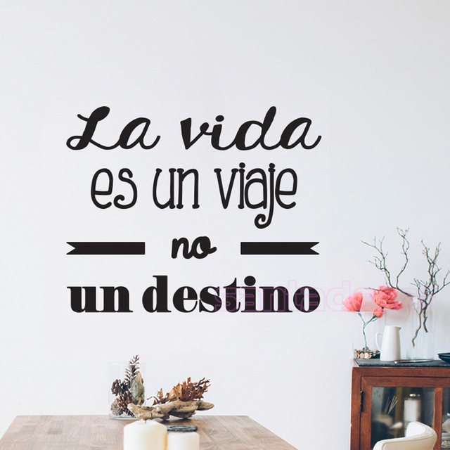 Vinyl Wall Stickers Spanish Quote Poster Letterings Wall Decals Wall Art  Home Decor Wallpaper For Living