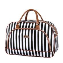 Womens Travel Bags 2018 Fashion Pu Leather Large Capacity Waterproof Print Luggage Duffle Bag Casual Bolsa