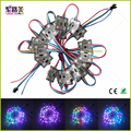 DC12V Waterproof WS2801 LPD6803S LED Pixel Module 4x 5050 RGB SMD & 1x WS2801 IC led string lights for Advertising letters sign