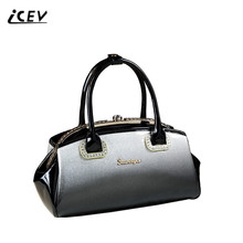 ICEV New European Fashion High Quality Evening Luxury Handbags Women Bags Designer Diamonds Panelled Leather Sac
