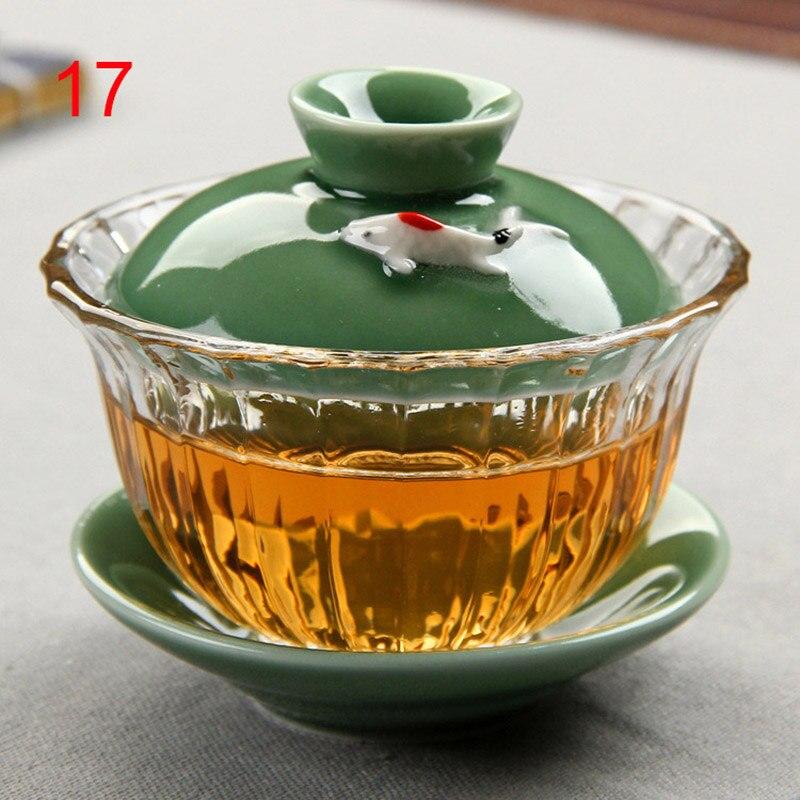 Traditional China Bone Gaiwan Bowls 4