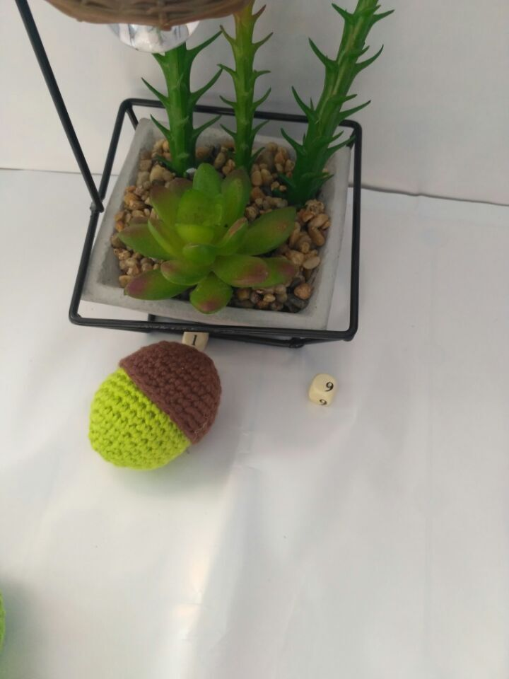 Amigurumi stroller crochet lemon, apple, nut, frog rattle