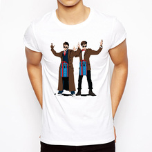 Top Quality White funny men lovers t shirt casual short sleeve Box Doctor Who printed mens T-shirt Fashion cool T shirt for men