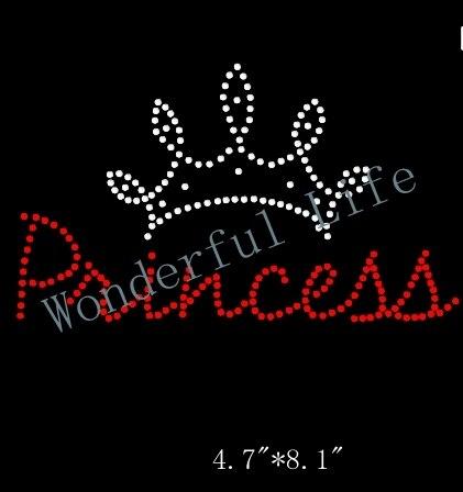 Free shipping instant princess crown | rhinestone transfer.