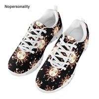 Nopersonality Breathable Sun Pattern Mesh Sneakers for Men Casual Lace Up Vulcanize Shoes Comfortable Male Mesh Shoes White