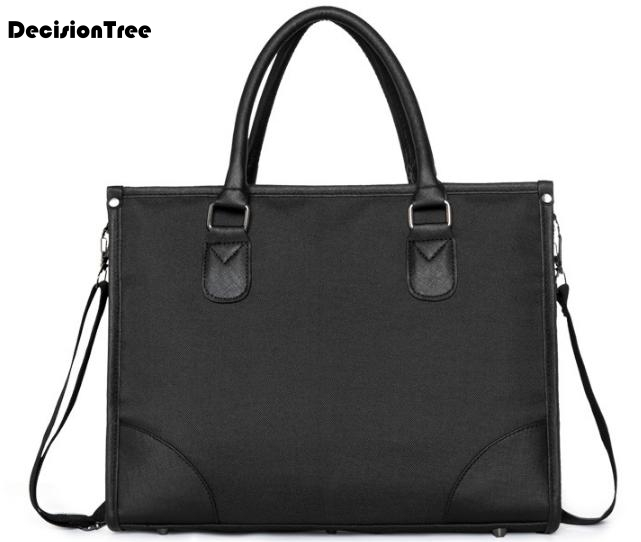Simple Cool Retro Brand Business Men Briefcase Bags Multifunction Oxford Laptop Bags Male Casual Shoulder Bags Bolsa Maleta L407