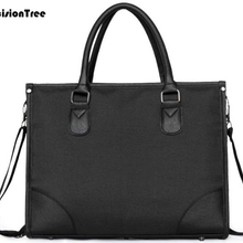 Simple Cool Retro Brand Business Men Briefcase Bags Multifunction Oxford